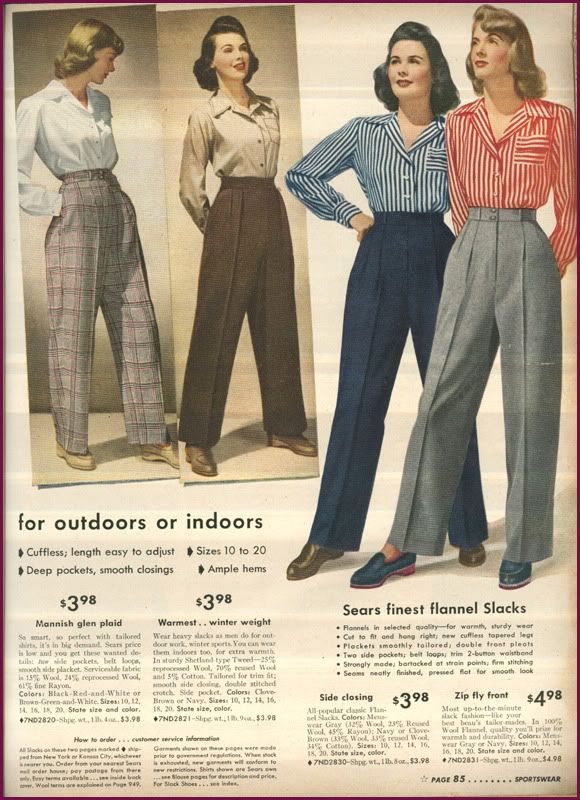 1940s Wardrobe Essentials Page 12 1940s Fashion Classy Trousers Fashion