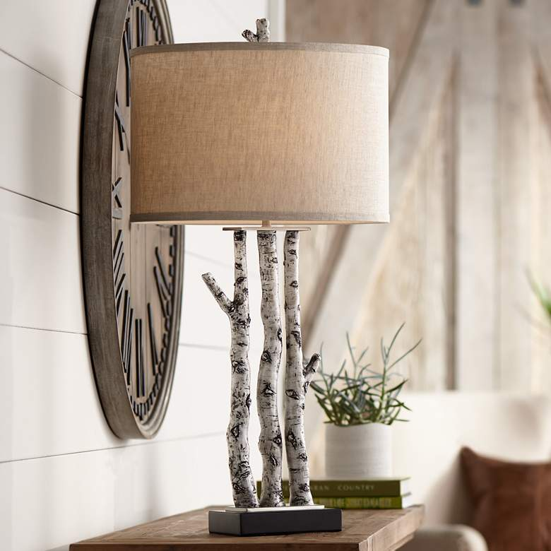 White Forest Natural Birch Tree Branches Table Lamp 70y28 Lamps Plus Birch Tree Decor Tree Lamp Birch Tree