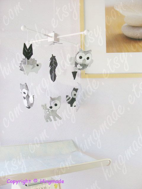 Forest Friends Mobile Arrows Feathers Forest Tribal