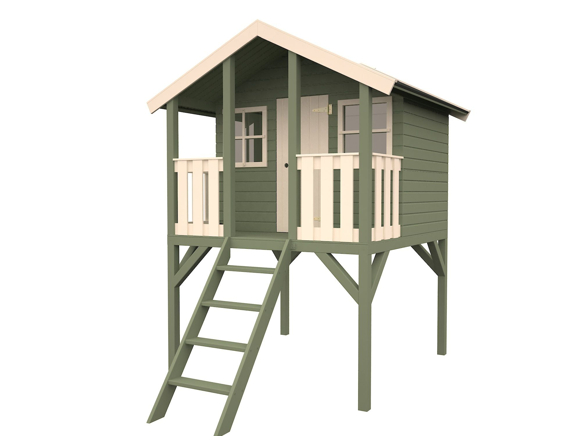 Playhouse On Stilts House On Stilts Play Houses Shed Homes