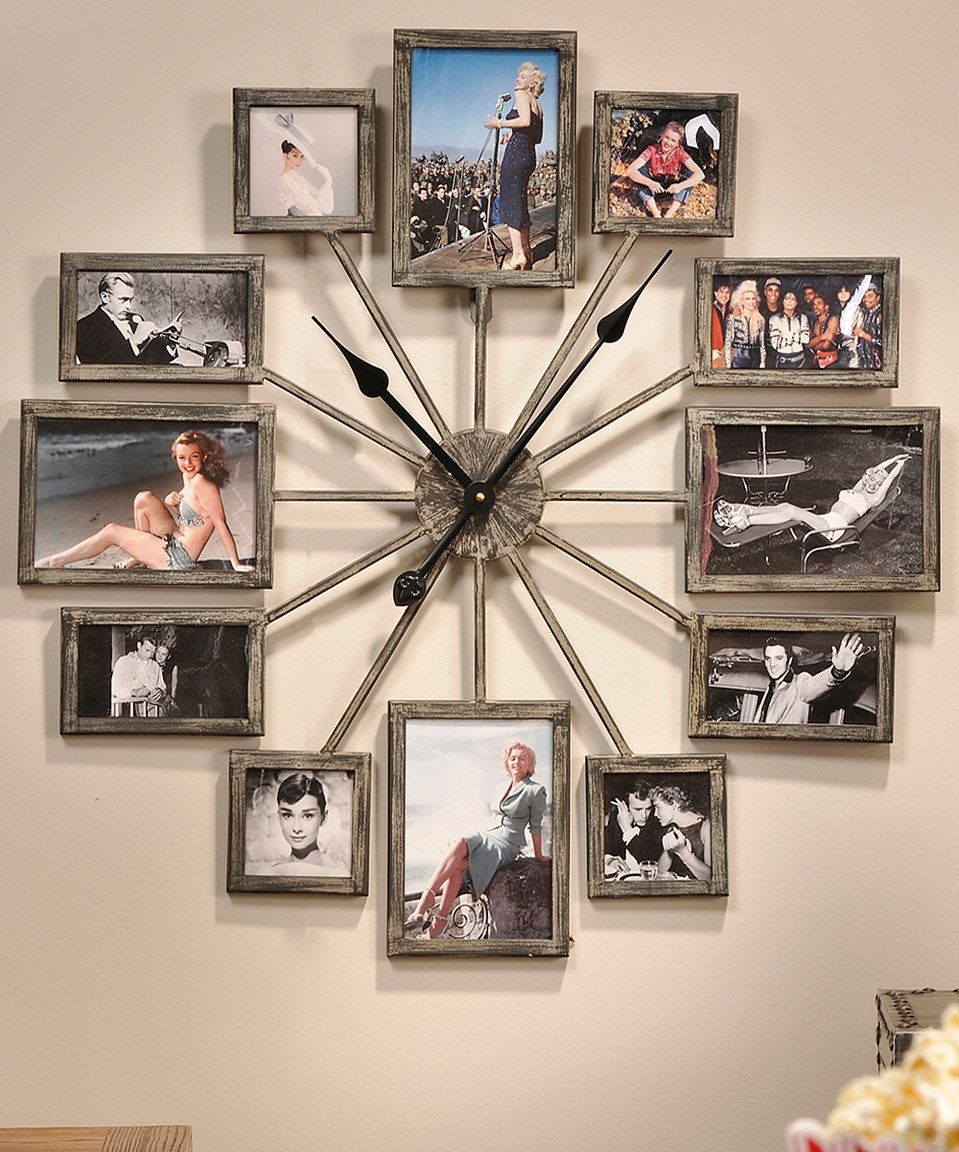 Look what i found on zulily iron 12 photo frame wall clock by iron 12 photo frame wall clock by jeuxipadfo Images