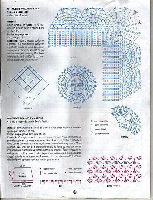 8 SHORT TEJIDO A CROCHET VARIOS MODELOS CON PATRONES ~ TODO PATRONES ...
