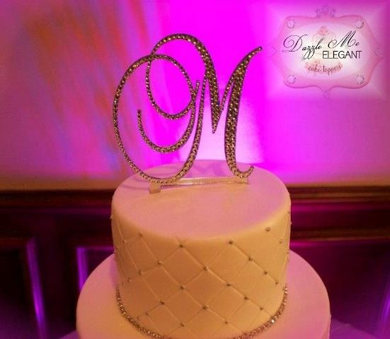 Affordable Crystal Monogram Cake Toppers