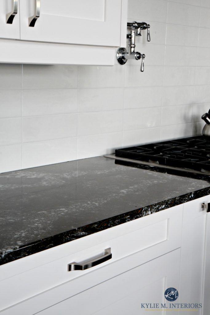 White Kitchen Cabinets, White Kitchen Cabinets With Black Quartz Countertops