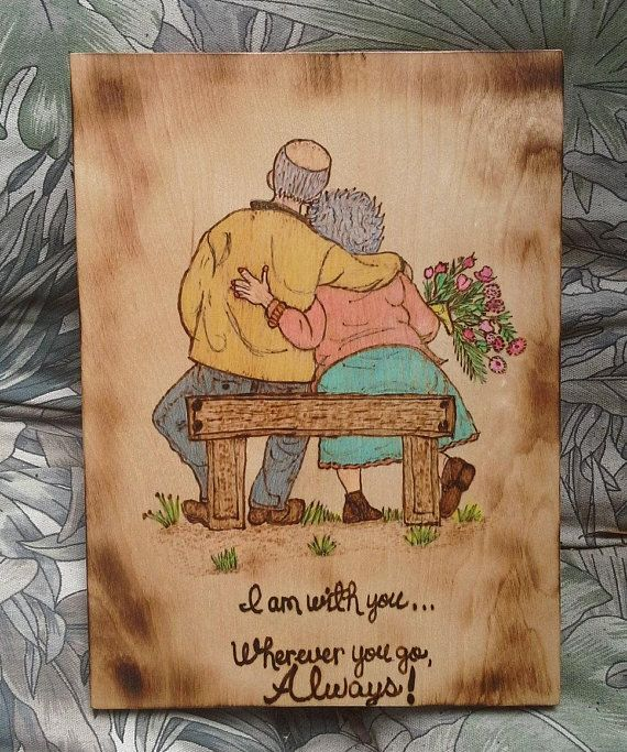 Anniversary Gift, Older Couple in Love, Memorial Gift