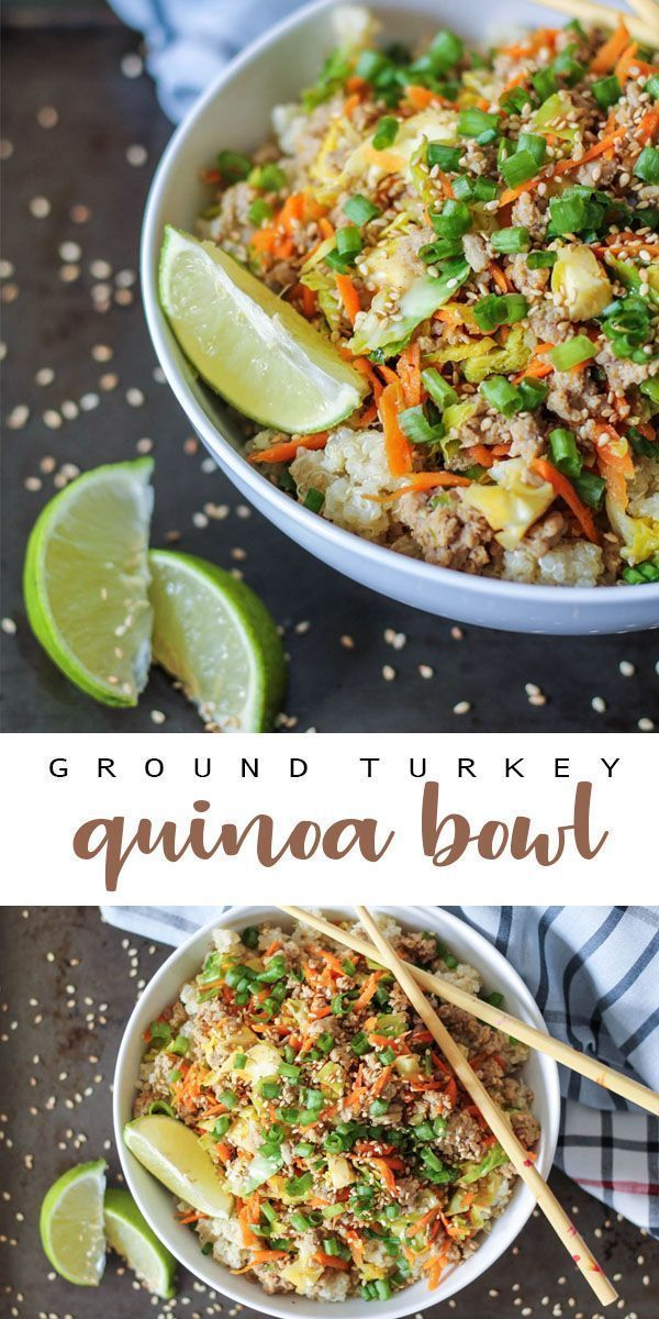 Ground Turkey Quinoa Bowls