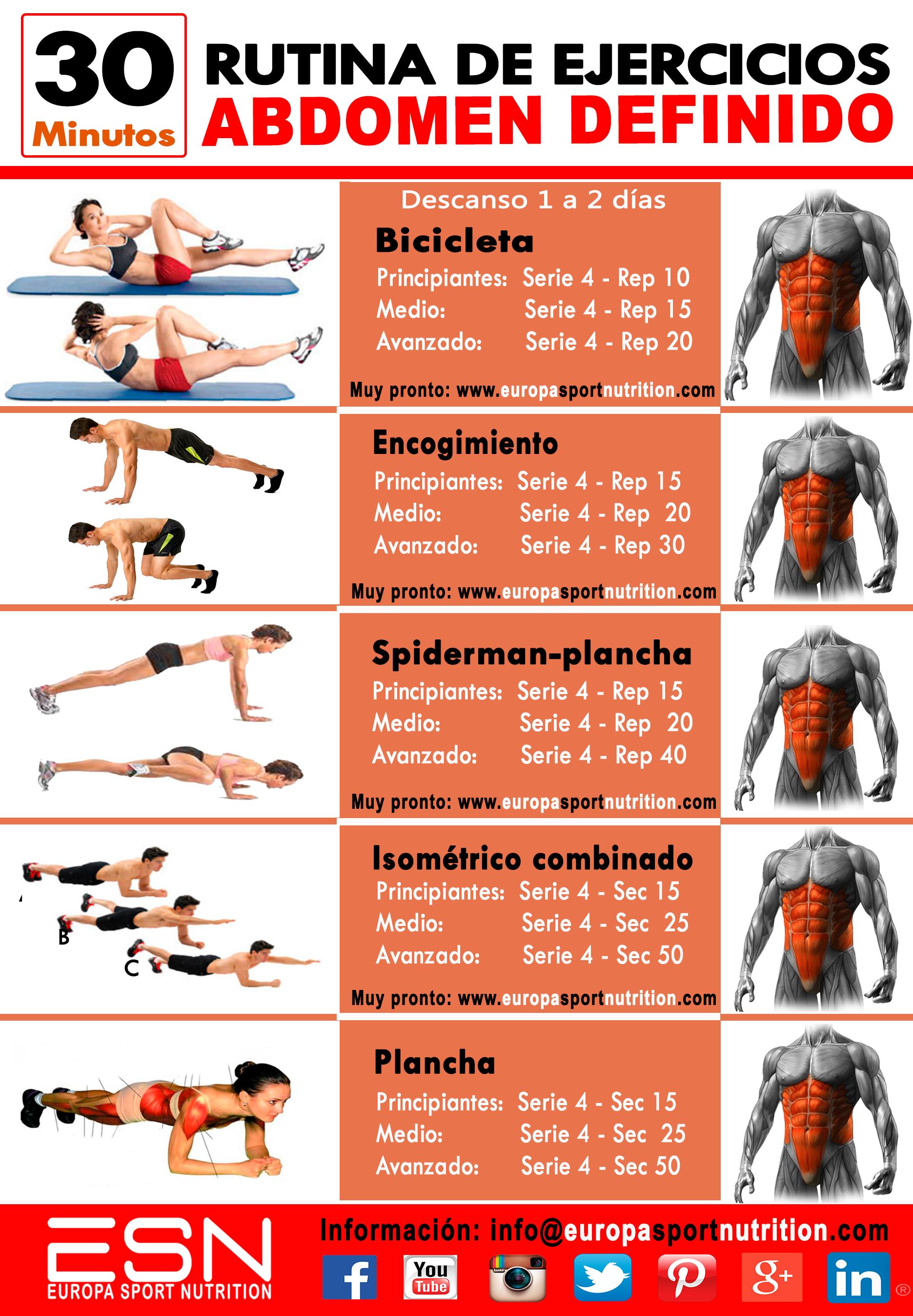 Tabla ejercicios abdominales pdf