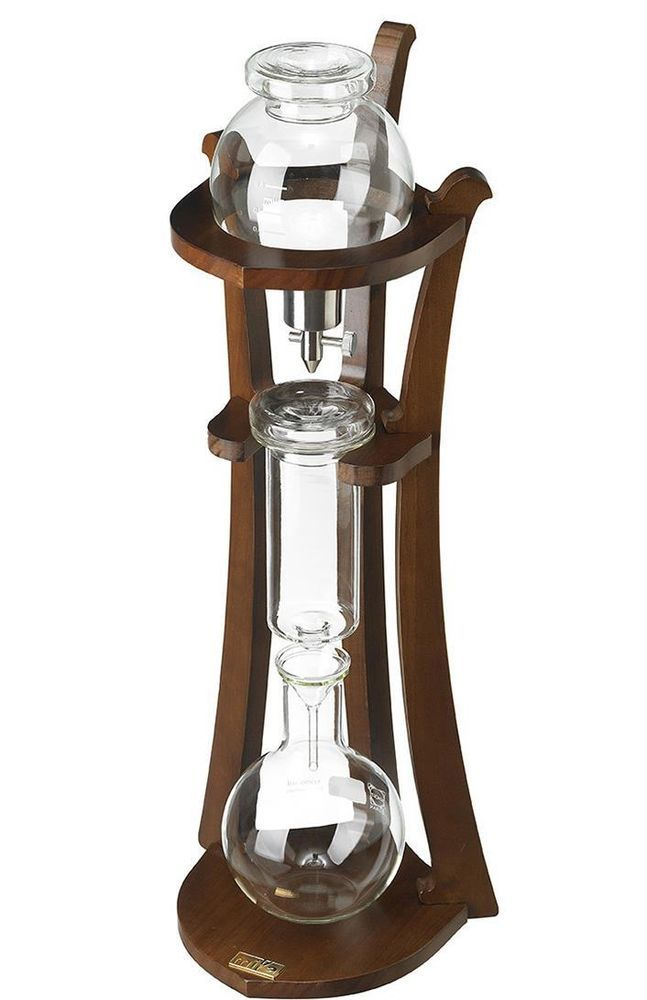Wooden Water Drip Coffee Makers Ice Cold Brew Machine Large size 1000ml Coffee, Coffee maker ...