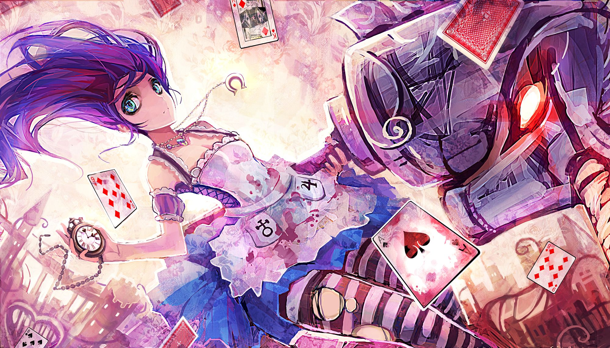 Alice In Wonderland Wallpaper Anime Alice In Wonderland Tapet