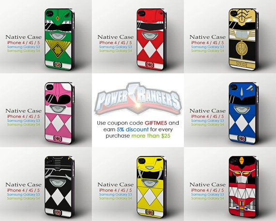 online store d5805 ef826 Mighty Morphin Power Rangers iPhone 4 4s 5 case by NativeCase ...