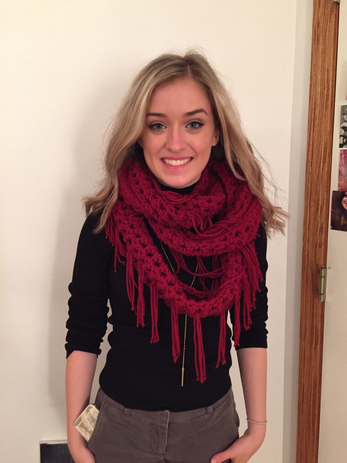 A personal favorite from my Etsy shop https://www.etsy.com/listing/259986752/carlies-fringe-infinity-scarf