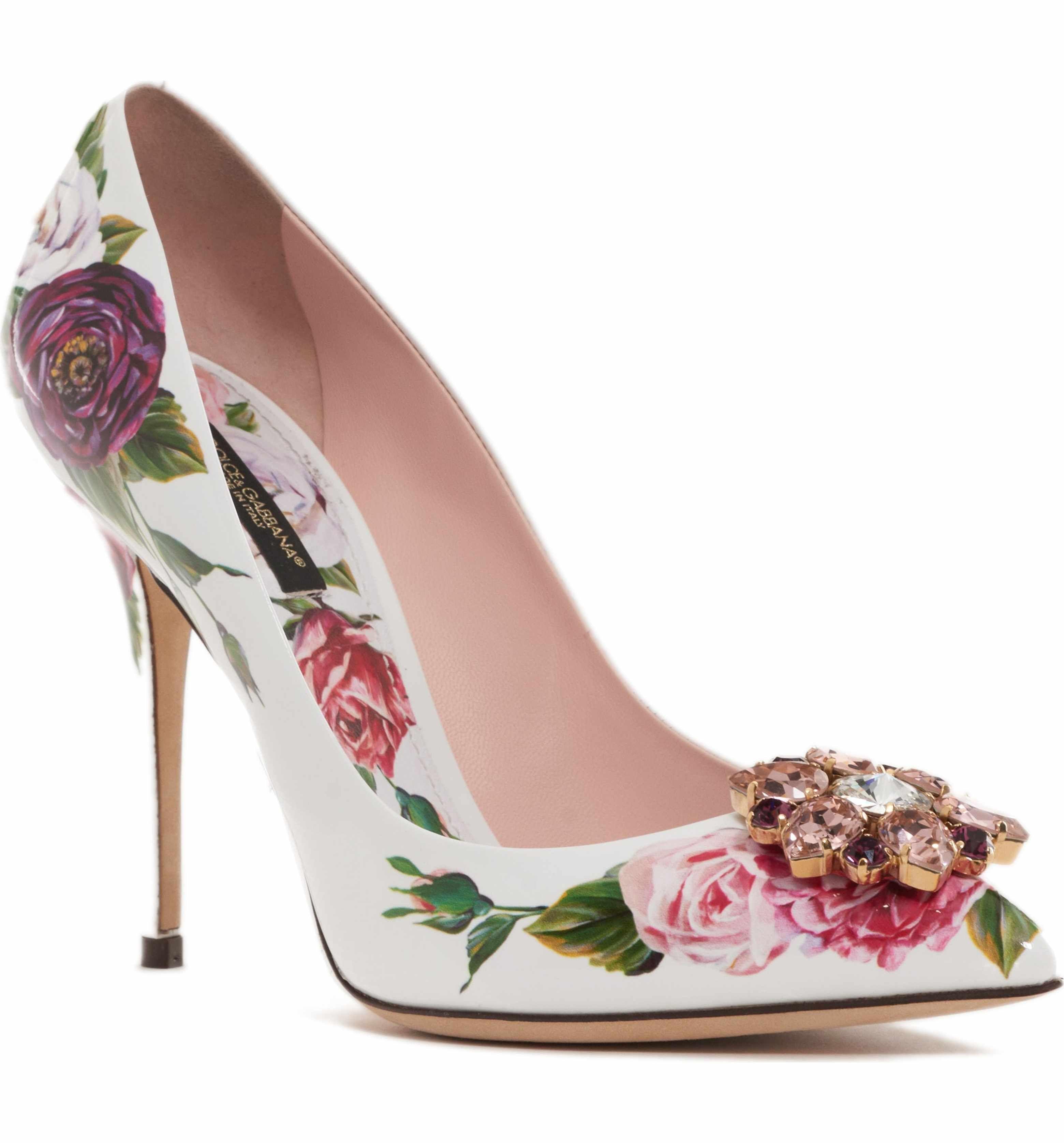 6898cdd48eaf Main Image - Dolce Gabbana Crystal Embellished Floral Pump (Women ...