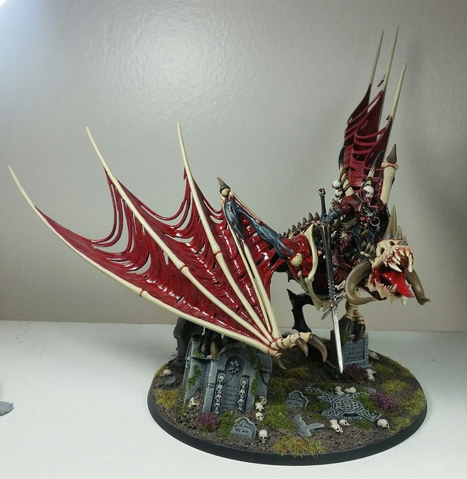 Vampire Lord on Zombie Dragon | Models | Death, Mini, Crown