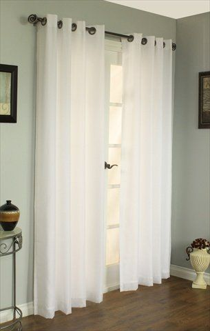 Commonwealth Home Fashions 70490 109 008 95 Thermavoile Rhapsody Lined Grommet Panel Sliding Glass Door Curtains Double Sliding Glass Doors Front Door Curtains