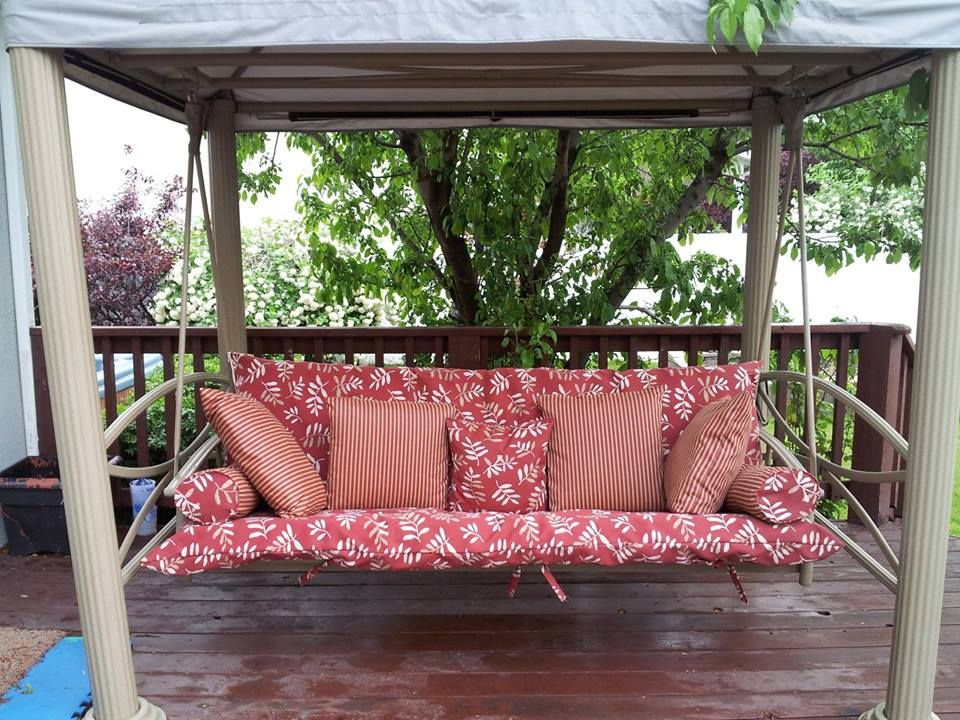 A L Furniture Sundown Agora Hinged Seat And Back Full Bench Cushion In 2021 Porch Swing Cushions Outdoor Cushions Porch Swing