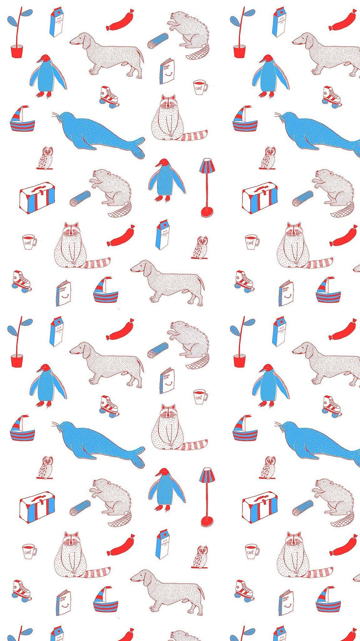 Shells Quirky Wallpaper Iphone Wallpaper Simple Prints