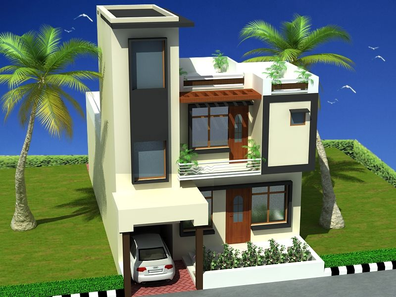 Modern duplex 2 floor house design click on this link for Free duplex house plans