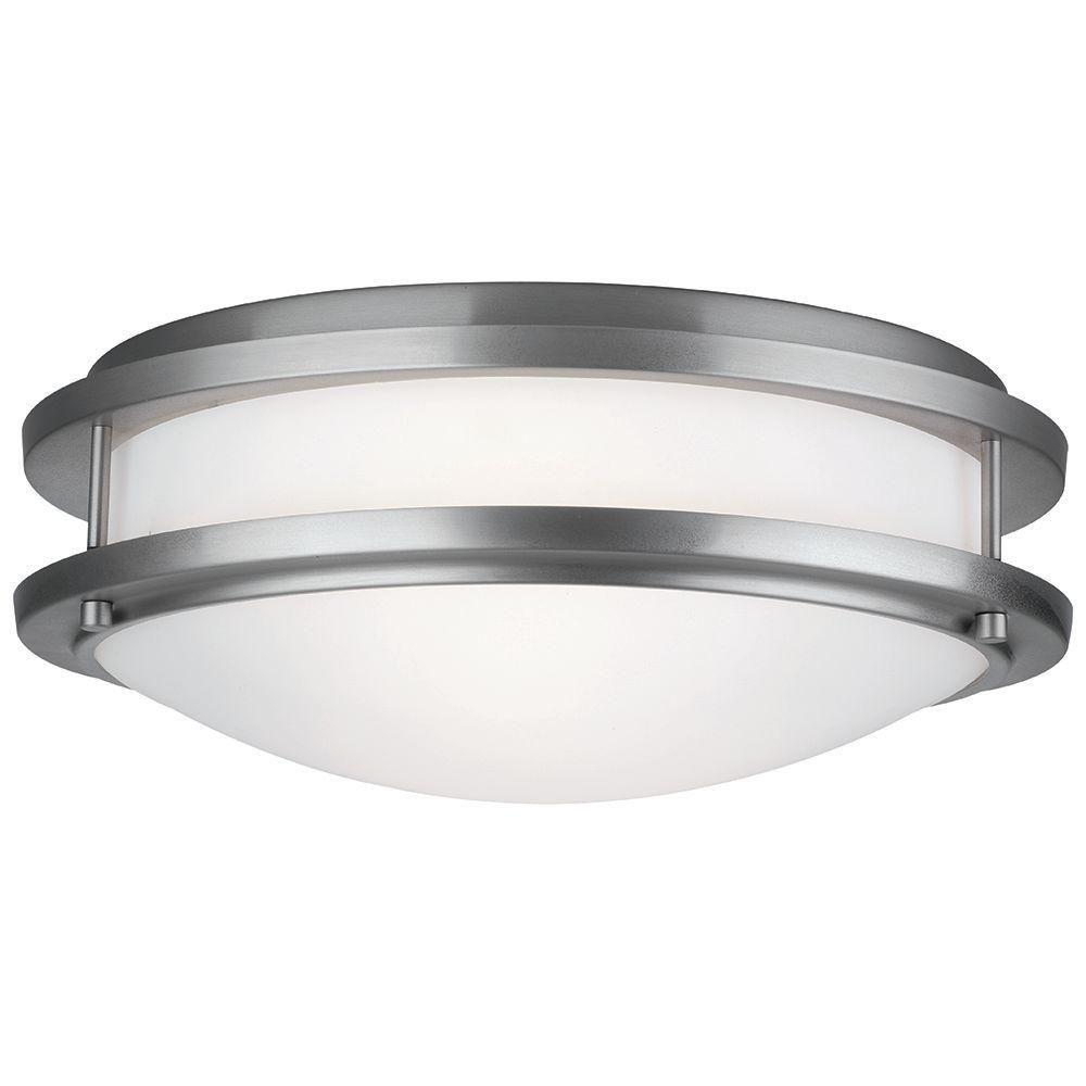 Philips Cambridge 2-Light Satin Nickel Ceiling Fixture