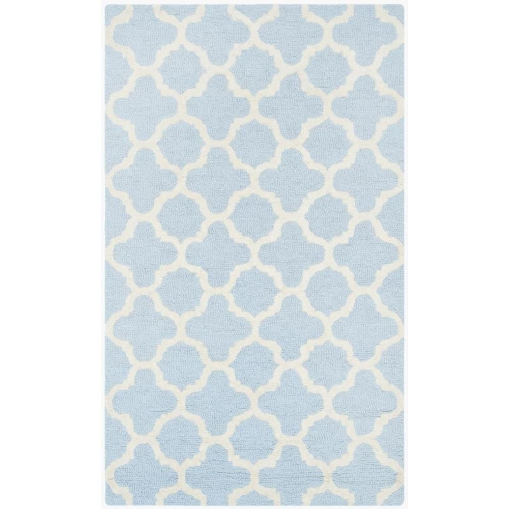 Cambridge Light Blue/Ivory 2 ft. 6 in. x 4 ft. Area Rug