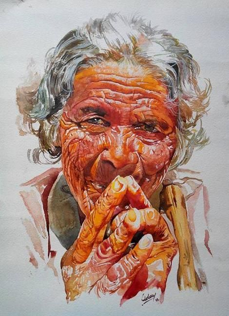 Best Watercolor Portraits By Famous Artists Retratos Cara De