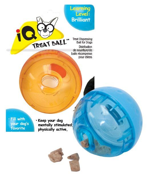 Amazon Com Smarter Toys Iq Treat Ball Dog Toy 5 Inches Colors