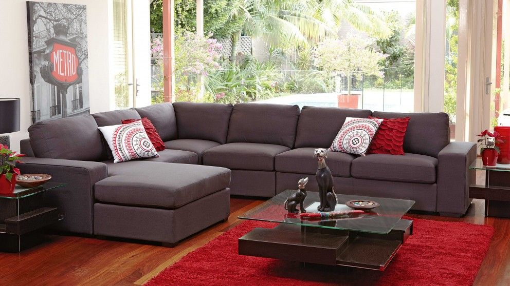 Natalia Fabric Corner Lounge With Chaise Lounges
