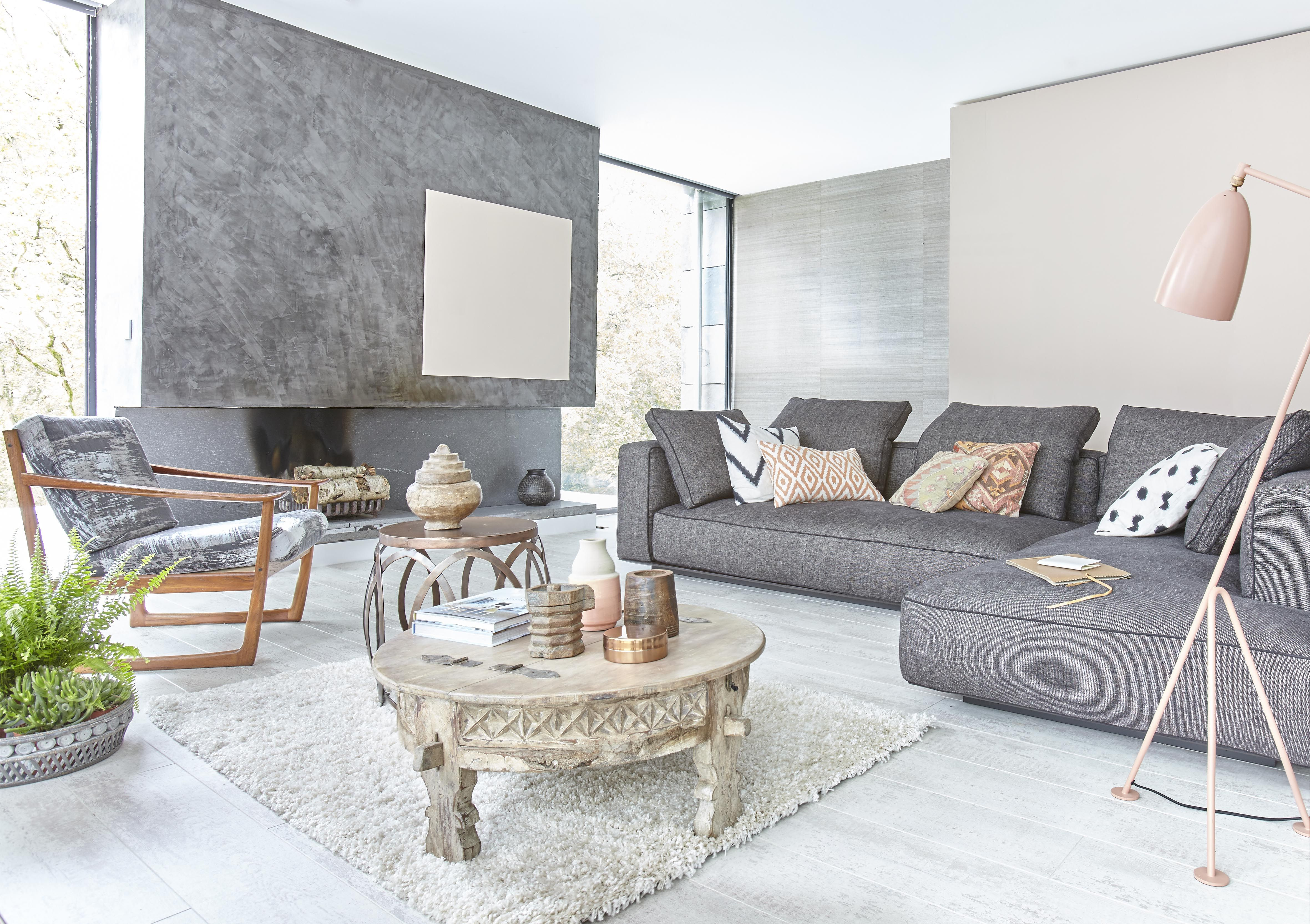 Decorating A Living Room Try The New Neutrals Swap Beige Taupe And Clotted Cream For More On Trend Slate Grey Nude Pink