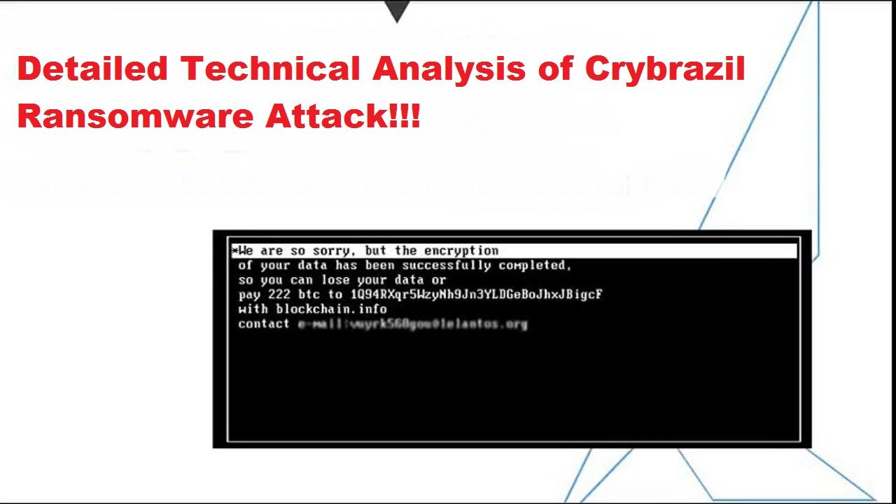 In This Technical Analysis Of The Crybrazil Ransomware Our Htri