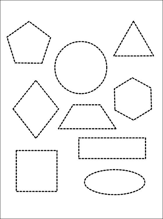 Various geometric shapes coloring page | Coloring pages | coloring 3 ...