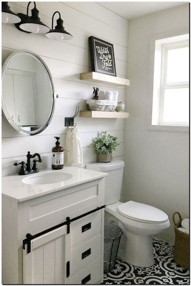 60 Good Bathroom Mirror Ideas To Reflect Your Style 6 Small Bathroom Makeover Small Bathroom Small Bathroom Remodel