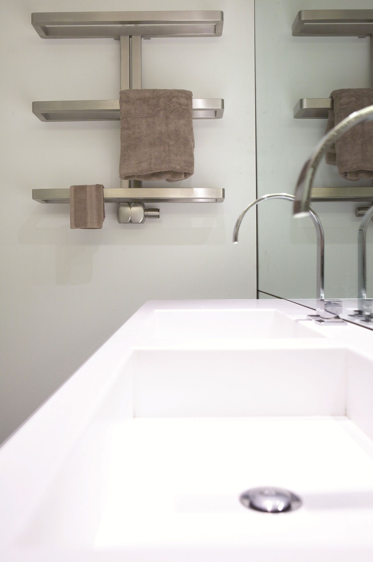Small heated towel rails for bathrooms - Aeon Gallant Towel Radiator