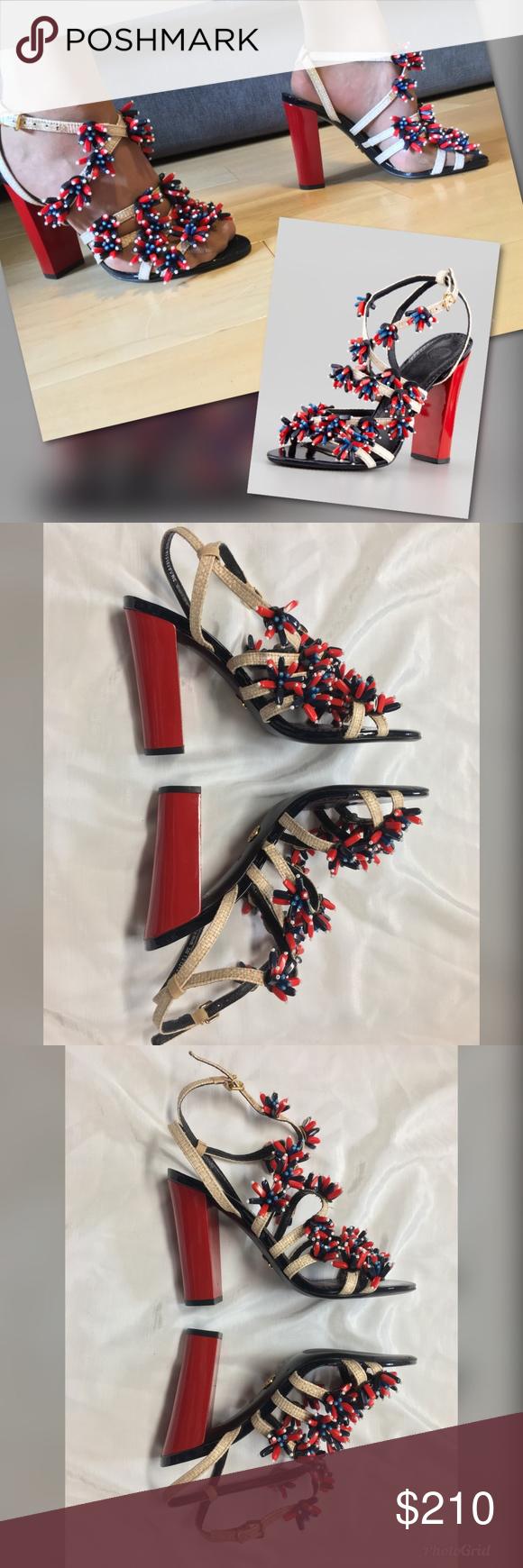 2c2fc18a6a8f TORY BURCH Ambrosia Beaded Raffia Runway Sandals