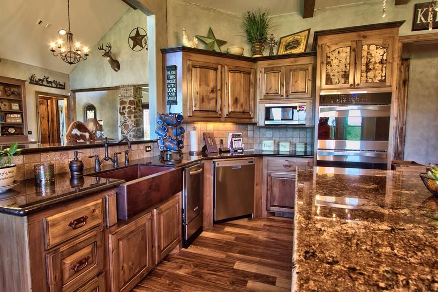 Kitchen Sink Appliances farmhouse kitchen sink granite countertops white cabinets and stainless steel appliances create a fresh bright space Images Of Stainless Appliances With Copper Google Search Copper Kitchen Sinksfarmhouse