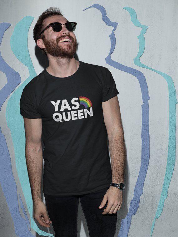bf10ceea Yas Queen T-Shirt, LGBT Rainbow, Gay and Lesbian, Queer Eye TShirt, LGBTQ  Pride, Drag Tee, Yass Kwee