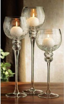 CANDLE HOLDER METAL /& GLASS SET//3 ~ CANDLE HOLDER ~ HURRICANE CANDLE HOLDER