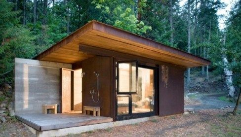Steel Clad 350 Sq Ft Modern Cabin On Stilts With