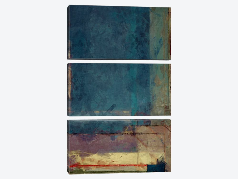 "Modern Art Ocean view Window by 5by5collective Canvas Print 40"" L x 60"" H x 0.75"" D"