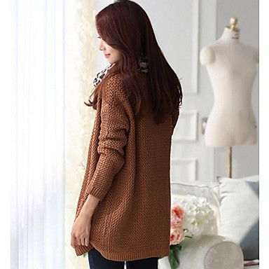 Women's Pure Color Thick Long Cardigan