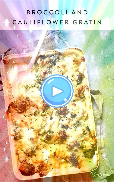 and Cauliflower Gratin dishBroccoli and Cauliflower Gratin dish The easiest baked spaghetti So creamy and cheesy Perfect weeknight dinner This keto friendly cauliflower b...