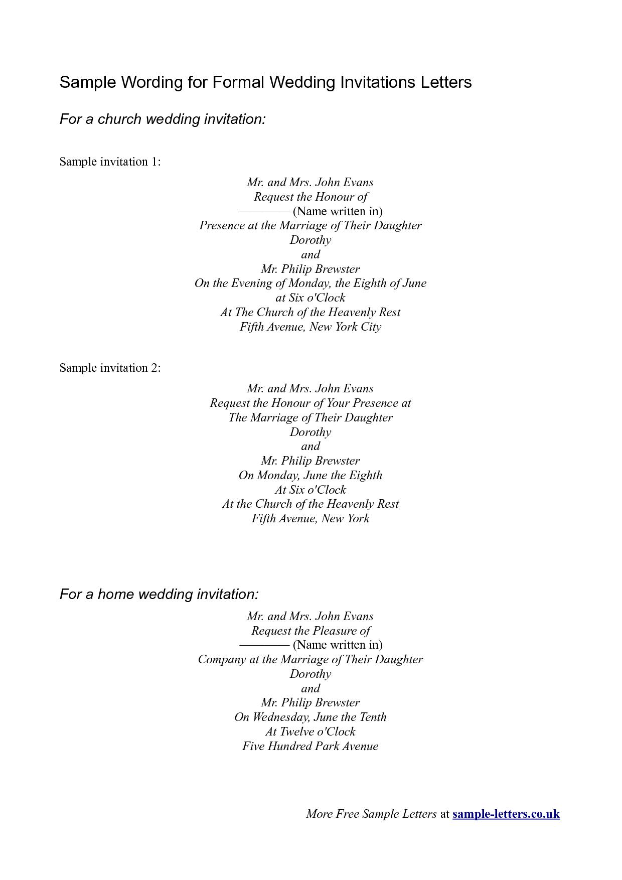 Invitation sample sample wording for formal wedding invitations charity golf day invitation letter event best ideas mbm best free home design idea inspiration stopboris Images