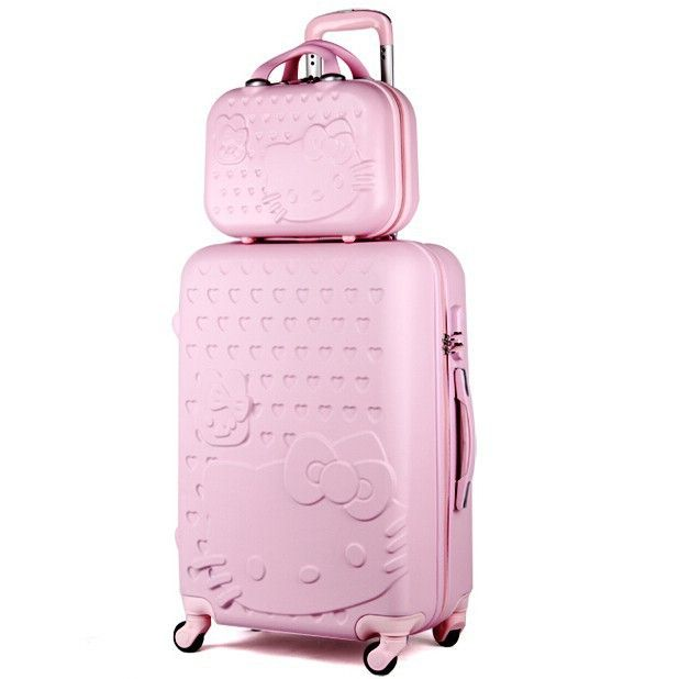 b5d84355c78c 20 inch Hello Kitty boarding travel suitcase
