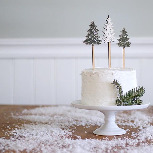 AND finally we have our beautiful vintage glittered trees. Basically, if you've got desserts, we've got you covered.