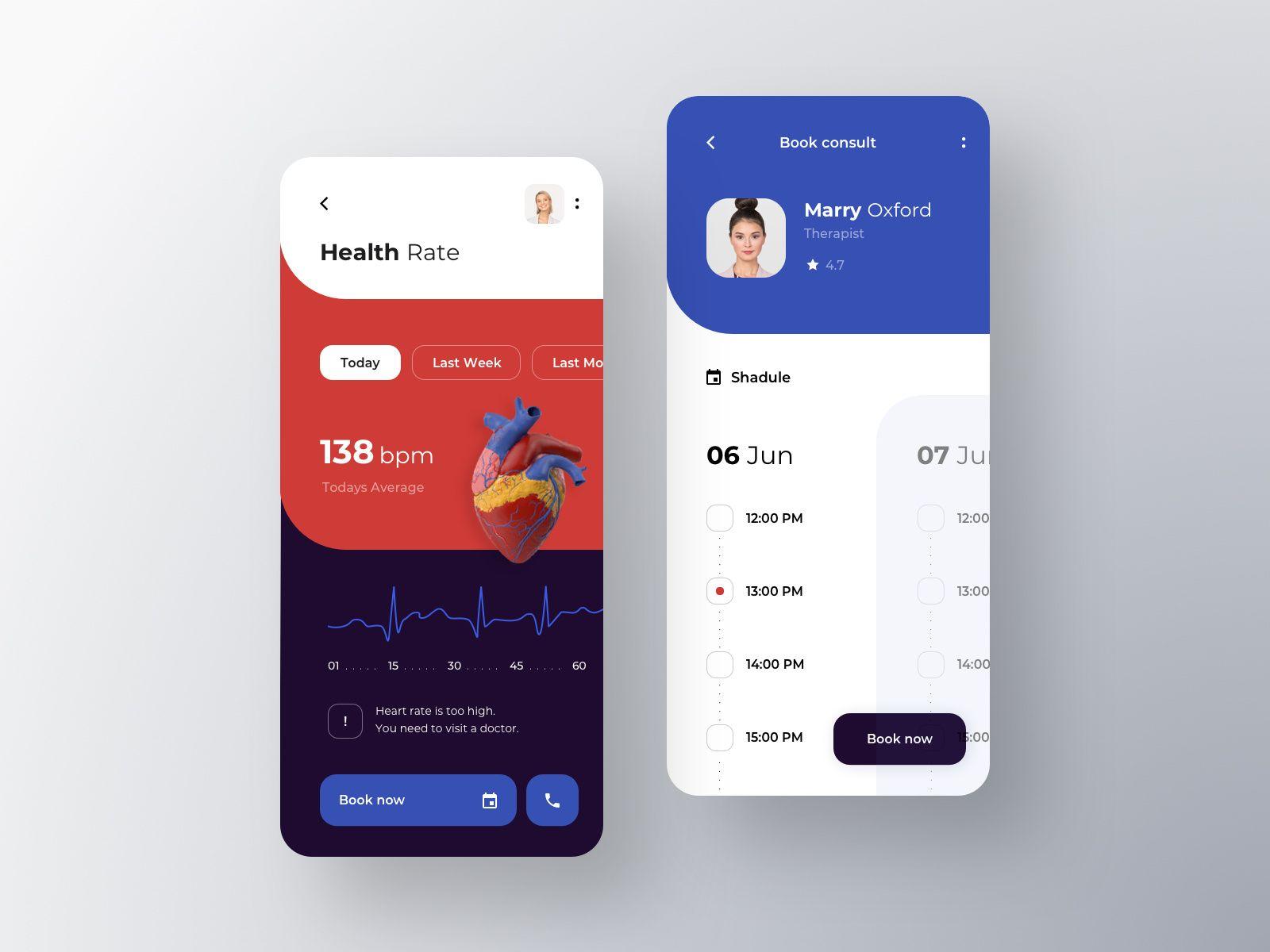 Doctor Appointment Online Дизайн приложения, Дизайн и
