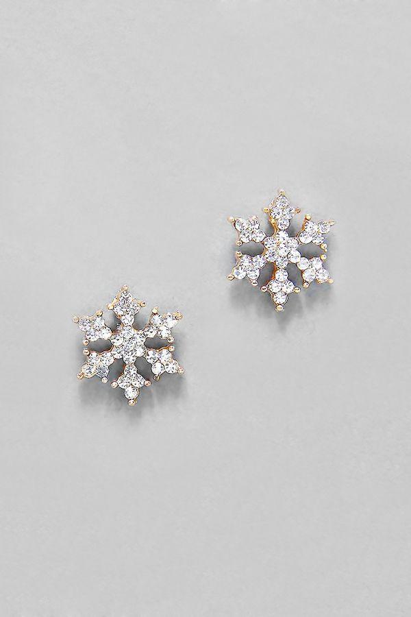 Crystal Snowflake Earrings//