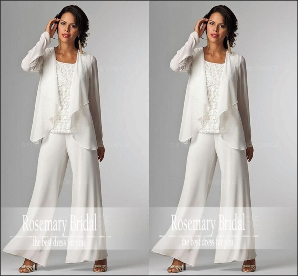 Vintage Plus Size Mother Of The Bride Groom Dresses With Pants ...