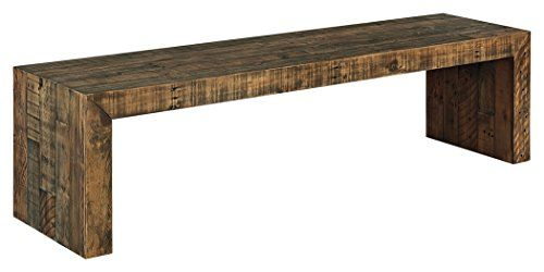 Signature Design By Ashley - Sommerford Large Dining Room Bench - Casual Style - Brown Signature Design by Ashley