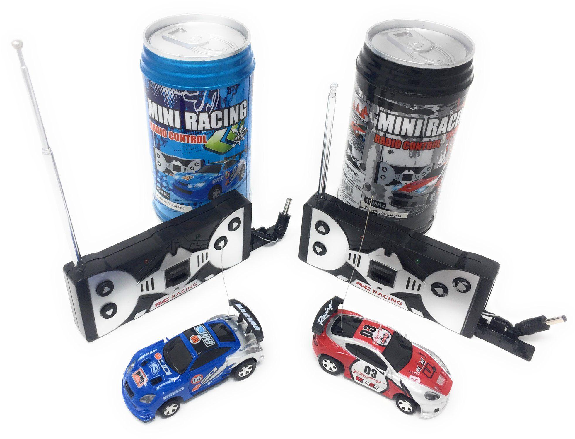 Mini RC Remote Control Car 2 Pcs Racing Game Set Smallest