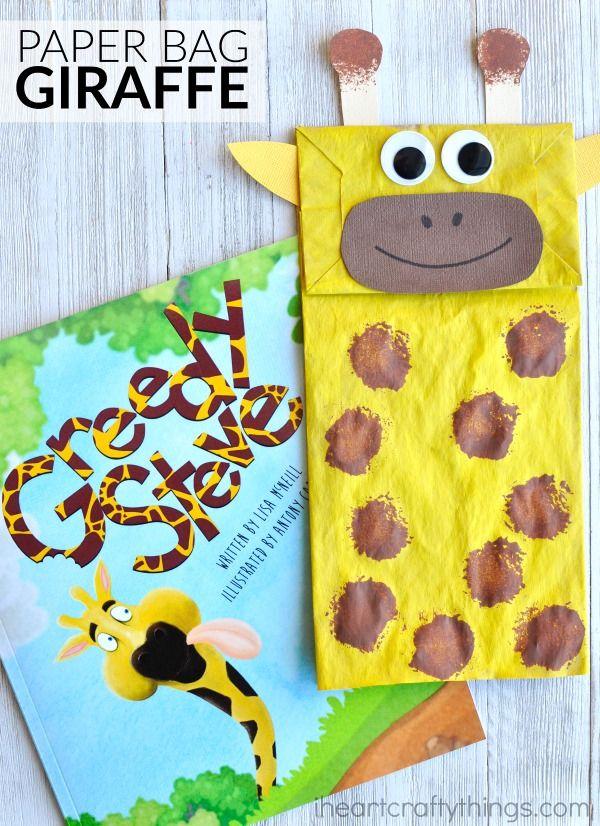 Adorable Paper Bag Giraffe Craft I Heart Crafty Things Animal