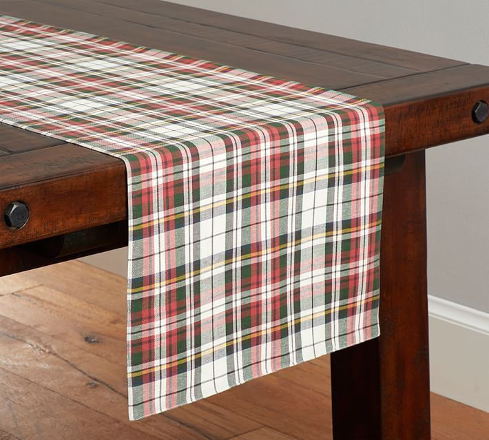 denver plaid table runner - Christmas Plaid Table Runner