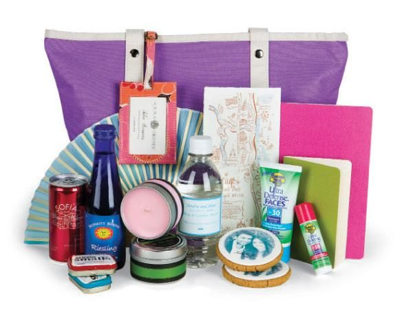 Destination Wedding Gift Bag Ideas: Out Of The Bag: Top Wedding Gift Bag Ideas